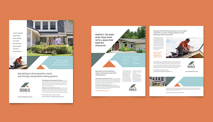 Simple One-Page Brochure Design